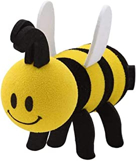 Idiytip Cute Honeybee Bee Queen Car Antenna Toppers Smiley Honey Bumble Aerial Balls Antenna Topper Auto Exterior Vehicle Roof Decor(#1)
