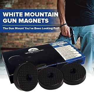WhiteMountain Sellers Magnetic Gun Mount: Concealed Shotgun Holder with 3 Strong Magnets for Firearms, Handguns, Rifles, Revolvers, Pistols, Hidden Holster for Car, Desk, Bedside - Truck Accessories