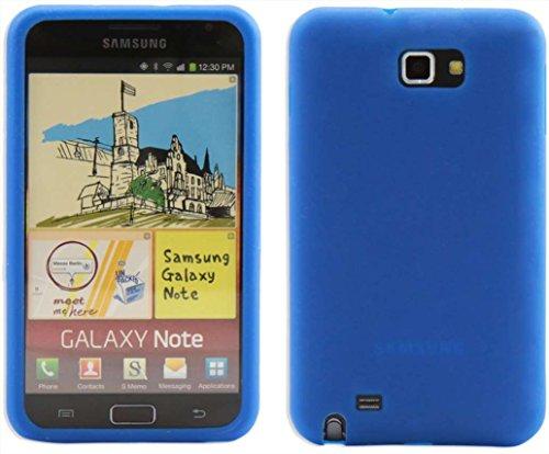 Luxburg®® In-Colour Design Schutzhülle für Samsung Galaxy Note GT-N7000 in Farbe Blau, Hülle Case aus Silikon