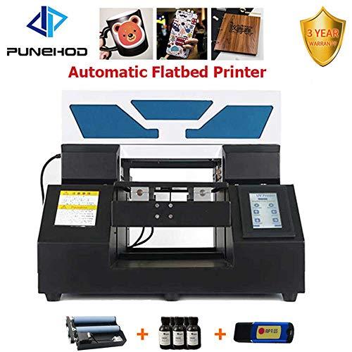 A4 Automatischer UV-Flachbettdrucker für ID-Karte Handy Hülle Glas Metall Oberfläche Druckmaschine (mit Form Flaschenhalter)