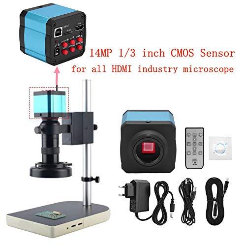 Zunate Telecamera per Microscopio,Telecamere Industriali,14 MP HDMI Set di Fotocamera per Microscopio Video Industriale,USB Telecamera a C ad Alta Definizione
