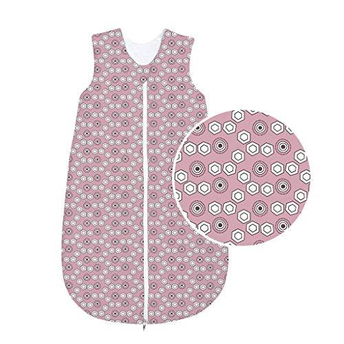 Odenwälder BabyNice Baumwoll Schlafsack Sommer Schlafsack Sommer 3-6 Jahr.// Sommerschlafsack unwattiert 130 cm // Creme rose