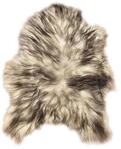 Natur-Fell-Shop - Piel de oveja, 100-110 cm, color crema y negro