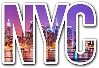 CUSTOMI NYC Night Skyline New York City Decal Sticker for Car Truck MacBook Laptop Air Pro Vinyl