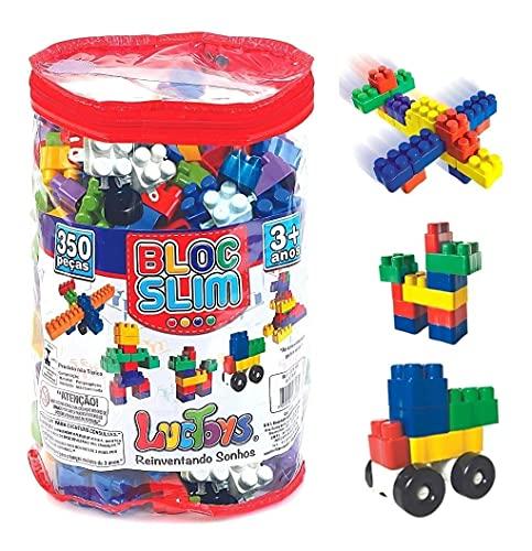 Bloc Slim - Bolsa com 350 Peças, Luc Toys