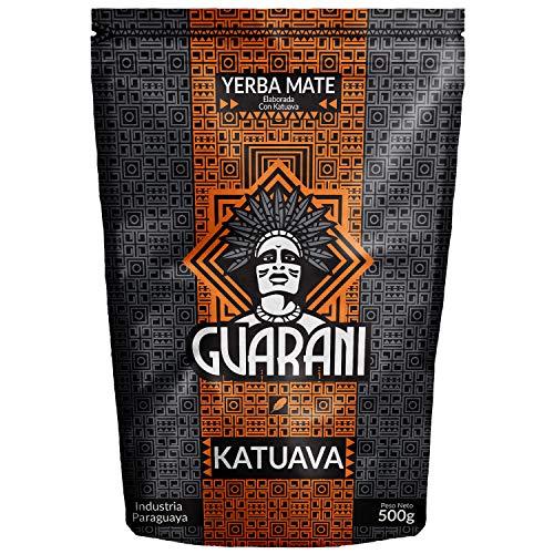 Yerba Mate Guarani Katuava, Guarani Katuava 500g, Yerba maté du Paraguay, Forte stimulation, Yerba maté avec katuava et burrito