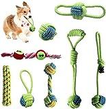 MYYINGELE Orejas de Cebada Juguete de Cuerda para Perros algodón Natural Masticar Cachorros Juguete Molar Interactivo Juego de Juguetes para Masticar Perros Perros pequeños y medianos