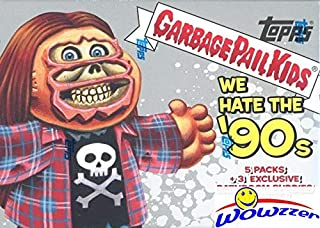 2019 Topps Garbage Pail Kids Series 1 WE HATE THE '90's EXCLUSIVE Factory Sealed Value Box with Special BATHROOM BUDDIES BONUS STICKERS! Look for Autographs, Sketch Cards & Printing Plates! WOWZZER!