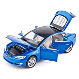 BDTCTK 1/32 Scale Car Model S Toy Zinc Alloy Casting Pull Back Vehicles with Sound and Light Toys for Kids Boys and Girls Gifts (Bule)