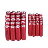 shizhongminghe-ES Profesional 20pcs AA 3000mAh con 20pcs AAA 1800mAh 1.2V Batería Recargable Universal NI-MH Rojo Set Rojo