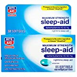 Rite Aid Pharmacy Sleep Aid, Maximum Strength, Liquid Softgels - 32 Count