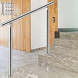 VEVOR Barandilla para Escaleras 80 x 85 cm Pasamanos de Escaleras Acero Inoxidable Barandilla de Escaleras Exterior para 1-2 Escalones Pasamanos para Escaleras 60-130 Grados Ajustable Carga 100 kg