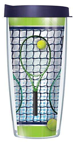 Tennis Schläger klar Traveler Tumbler Becher mit Deckel 22 oz grün