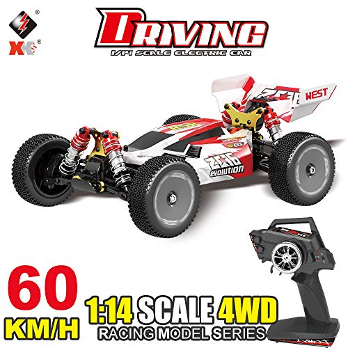 Leeofty S 144001 RC Car 60km / h Alta Velocidad 1/14 2.4GHz RC Buggy 4WD Racing Off-Road Drift Car RTR