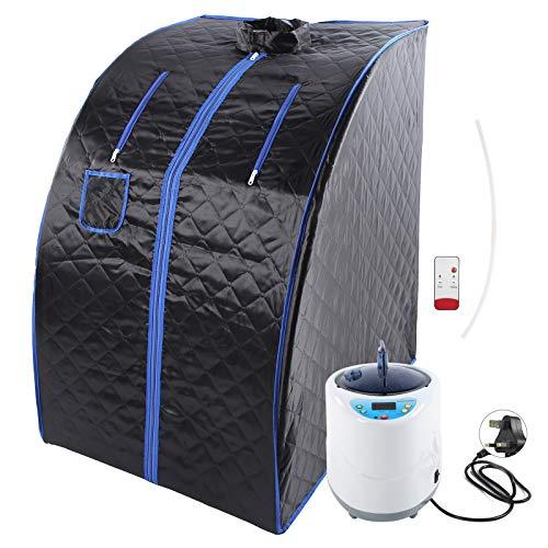 Sauna-Dampfmaschine mit Baumwollbezug, wasserdichte Nylon-Dampfmaschine, automatische Abschaltung, leicht zu (220 V, britischer Standard)