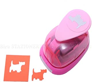 Bira 1 inch Dog 2 Lever Action Craft Punch, Animal Punch, for Paper Crafting Scrapbooking Cards Arts