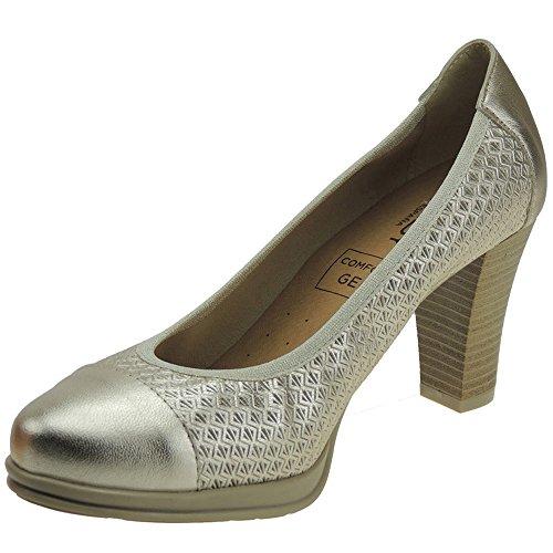 Chamby 4318 Zapato Comodón Vestir Tacón 8 CM Mujer
