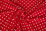 Hemmers Jersey-Stoff – Punkte Rot – Jersey – HEM101