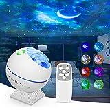 Panamalar Proyector Estrellas, LED Proyector de Cielo Estrellado Luz Nocturna con 44 Modos de Luz/Control Remoto/Control de Sonido,Proyector de Luz Estelar Galaxia para Dormitorio Niños Fiesta