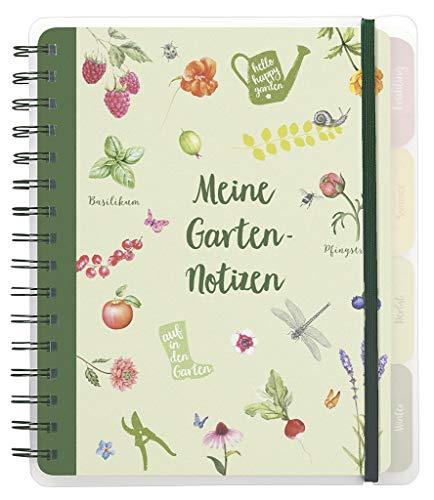 Cuaderno de jardín con hojas y flores, para todo el año, libro de registro para jardineros