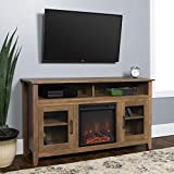 WE Furniture Fireplace TV Stand