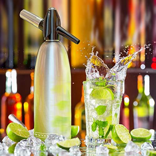 Innovee Soda-Siphon – Der beste Sodasprudler – Aluminium – 1 Liter + Cocktail Rezepte Ebook – Bereiten Sie Sprudelwasser mit Leitungswasser oder aus der Flasche vor – Bereiten Sprudelwasser vor wann Sie es vollen – benötigt Standard-CO2 Kapseln (nicht enthalten) - 4