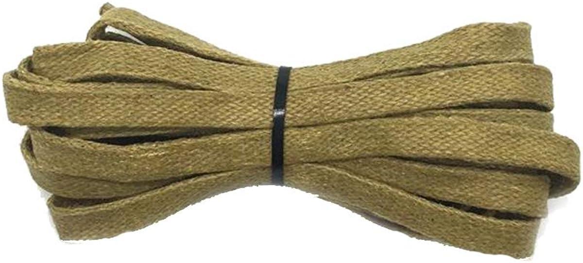 Cordón Encerado 1Pair Plana Cordones Cuero Resistente al Agua Longitud Unisex Botas de Cordones de los Zapatos 60-180CM