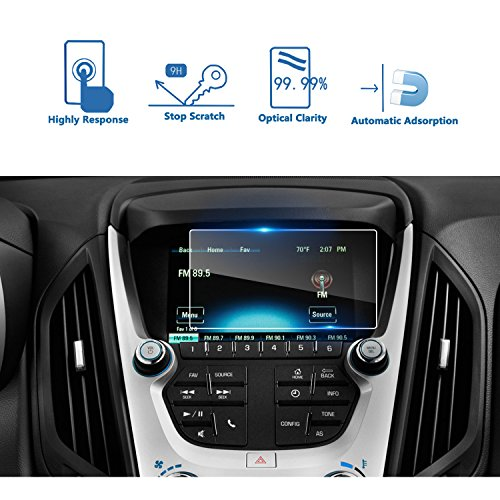 LFOTPP 2016-2018 Chevrolet Malibu LS 2018 Chevrolet Equinox 7 Inch MyLink Car Navigation Screen Protector, [9H] Tempered Glass Infotainment Center Touch Screen Protector Anti Scratch High Clarity