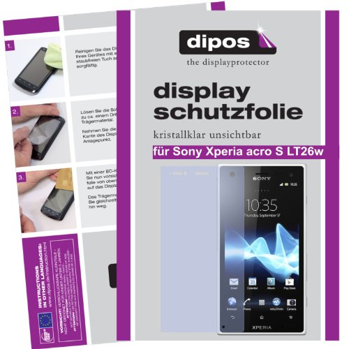 dipos I 2X Schutzfolie klar kompatibel mit Sony Xperia acro S Folie Displayschutzfolie