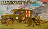 Ambulance and Tow Truck Ground Vehicle Set 1/72 Academy by Academy Models