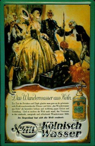 Buddel-Bini Versand Blechschild Nostalgieschild 4711 Wunderwasser Adel Parfüm Metall Schild Kosmetik Werbeschild