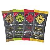 Fourpoints Energy Bars Variety Box, Plant Based Hemp Protein, (2.5oz, Box of 12), Vegan, Paleo, Gluten Free