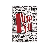 私はあなたを愛し ipad air 4 ケース 2020 第4世代 10.9インチ 新聞様式化された国際的な愛の言葉現代的な幸せな母の日装飾 耐衝撃 新型 アイパッドエアー4専用スマートカバー スタンド付き 白