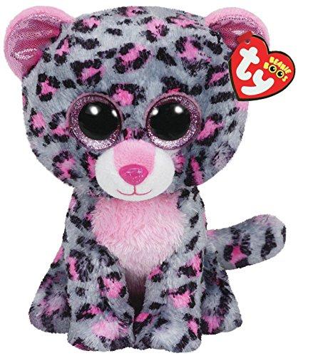TY 36151 Tasha Leopard Plüsch, pink/grau