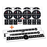 TraderPlus 4PCS Replacement AC Control Dash Button Stickers for SUV Truck