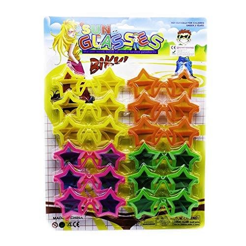 The Glowhouse Pack de 12 niños en Forma de Estrella Fiesta Gafas