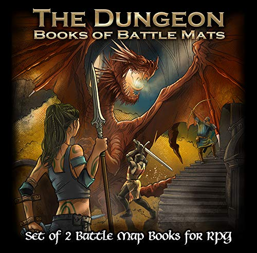 Loke- Livre Plateau de Jeu, The Dungeon Books of Battle Mats
