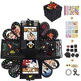 Qhui Kreative Explosionsbox, DIY Überraschungsbox, Personalisierte Geschenkbox Fotoalbum, Geschenk...
