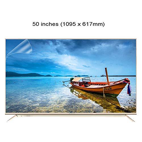 WTTO 50 Pulgadas Protector De Pantalla De TV, Antiazul Filtro Antideslumbrante TV Protección de Pantalla Alivia La Fatiga Ocular para HDTV LCD/LED/OLED Y QLED,Ultra-Clear