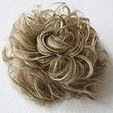 PRETTYSHOP Postizo Coletero Peinado alto, VOLUMINOSO, rizado, Moño descuidado mezcla rubia marrón # 6H613 G32E