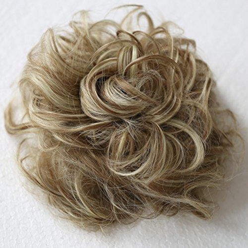 PRETTYSHOP Haarteil Haargummi Hochsteckfrisuren, Brautfrisuren, VOLUMINÖS, gelockter unordentlicher Dutt,braun blond mix #6H613 G32E