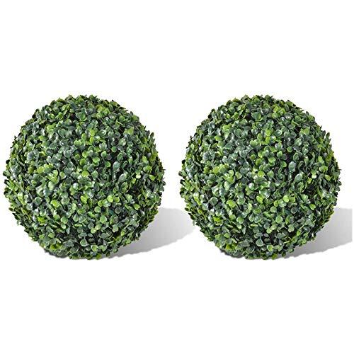 Kasahome 2 bolas de boj para plantas artificales interiores y exteriores, esferas...