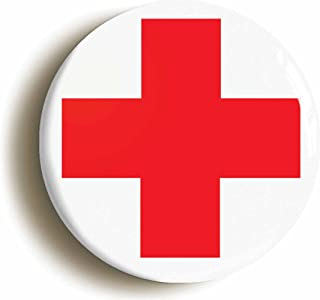 Red Cross Hospital Doctor Nurse Costume Button Pin (Size 1inch Dimeter)