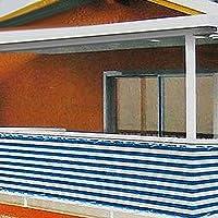 【𝐍𝐞𝒘 𝐘𝐞𝐚𝐫𝐬 𝐆𝐢𝐟𝐭𝐬】青と白のストライプのバルコニースクリーン、プライバシースクリーン、庭用のウィンドサンシールドシェードフェンス