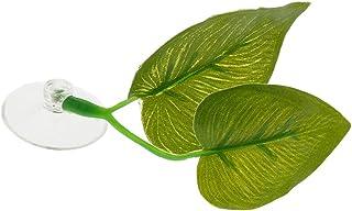 FLAMEER Wysoka symulacja sztucznych liści, półka na jajko, rośliny wodne, dekoracja akwarium