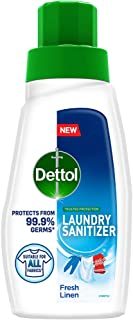 Dettol After Detergent Wash Liquid Laundry Sanitizer for all Fabrics, Fresh Linen - 480ml