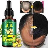 weixinbuy Huile de germe de gingembre, sérum de croissance des cheveux, traitement contre la perte des cheveux, sérum pour les...