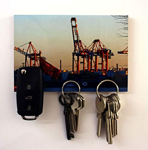 Schlüsselbrett Magnet Bild – Hamburg Meine Perle – 10x15cm 3 Magnete Magnettafel Magnetboard magnetisches Schlüsselbrett