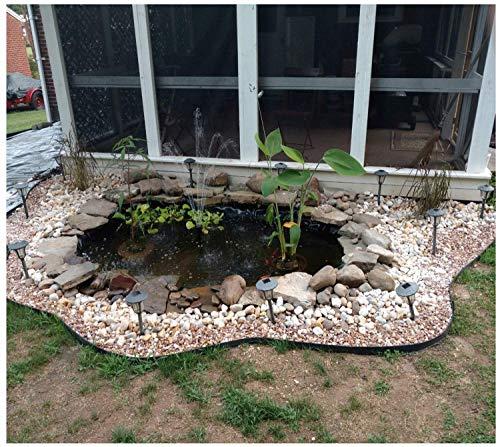 Dicker Fischteichstoff, für Zuhause, Garten, Pool, verstärktes HDPE, strapazierfähig, Landschaftsbau, Garten, Pool, wasserdichte Innenfolie, Membran, flexibel, langlebig, Wasserfall-Innenschuh