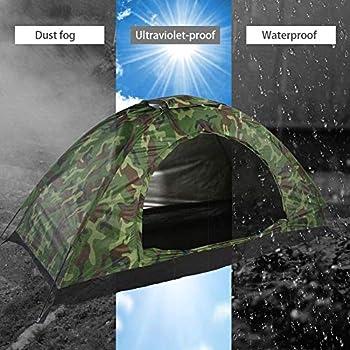 Tente extérieure-Tente de Camping, Tente imperméable pour Une Personne de Protection UV de Camouflage extérieur Portable pour la randonnée en Camping en Plein air 59 x 13.6 x 6 cm?Livraison Rapide?